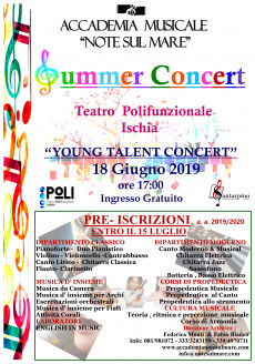 """SUMMER CONCERT"" 2019 -ACCADEMIA MUSICALE NOTE SUL MARE"