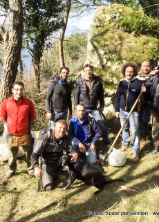 Cleaning the paths of Ischia